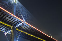Bridge. It is beautiful night scenes of Bridge in Hong Kong Stock Photos