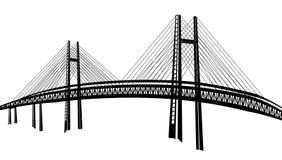 Bridge. Drawing of bridge in a white background Royalty Free Stock Photos
