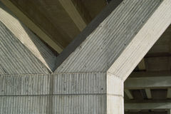 Bridge. Construction seen from below, Concrete Architecture Support Column, Y Royalty Free Stock Photography