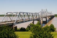 Bridge. Cantilever bridge over the Mississippi River, Vicksburg, Mississippi royalty free stock photo