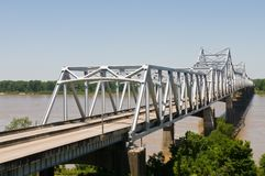 Bridge. Cantilever bridge over the Mississippi River, Vicksburg, Mississippi royalty free stock image