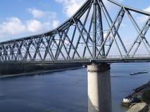 Bridge. Over the Danube river royalty free stock photos