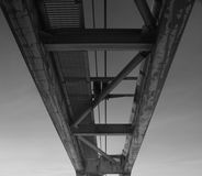 Bridge. Funicular railway as seen from below the tracks Stock Photography