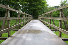 Bridge. A wooden bridge over a river in cornwall Stock Images