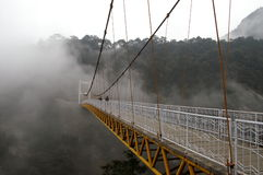 Bridge. Across canyon, in China's famous beauty spot Lushan stock image