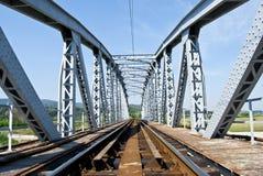 Bridge. Railroad bridge that passes over water Stock Images
