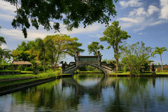 Bridge. Balinese Chinese Bridge in Bali Royalty Free Stock Images
