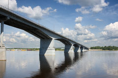 Bridge. The automobile bridge in Perm. Russia Royalty Free Stock Image