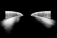 Bridge. With lights shot at night time royalty free stock photo