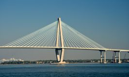 Bridge. Over bay in Charleston, South Carolina royalty free stock photography