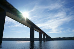 Bridge. Over Vejle Fjord in Denmark Stock Photo