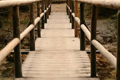 The bridge. Wooden bridge, leading into your fantasy world Stock Photo