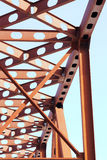 Bridge. Close-up of Russian red railroad bridge Royalty Free Stock Images