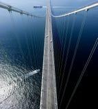 Bridge. Hanging bidge over the sea Royalty Free Stock Images