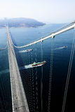 Bridge. Hanging bidge over the sea Stock Photography