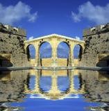 The Bridge 2. Aqueduct like bridge connectiong two bastion walls Royalty Free Stock Photos