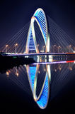 Bridge. The night scene of jinyi bridge in yixing, jiangsu, China Royalty Free Stock Images
