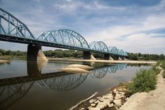The bridge. Landscape with the blue bridge Stock Photo