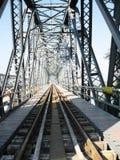 Bridge. Over Danube in Romania Stock Photos