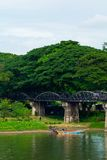 Bridge. Crosses a river in thailand Stock Photography