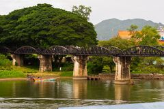Bridge. Crosses a river in thailand Stock Photo