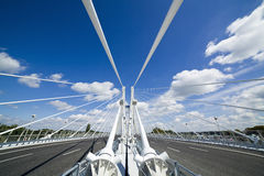 Bridge. New modern bridge in Wroclaw Poland Stock Image