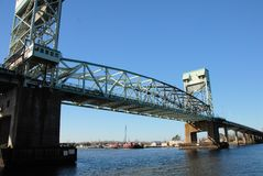 Bridge. A bridge to Wilmington North Carolina shown during the day Royalty Free Stock Image
