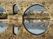 Bridge. A bridge in the north of Portugal Royalty Free Stock Photos