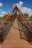 Bridge. Metal bridge over the river Stock Photography