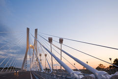 Bridge. New modern bridge in Wroclaw Poland Royalty Free Stock Photo
