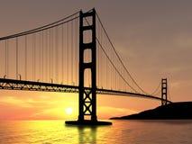 Bridge. Golden Gate Bridge over sunset Stock Photos