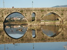Bridge. Old bridge in the north of Portugal Royalty Free Stock Images