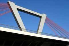 Bridge. Over river Rhine nearby Duesseldorf/Germany Royalty Free Stock Photo