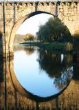 Bridge. And mirror Royalty Free Stock Images