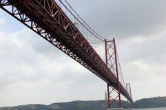 Bridge 25 of April in Lisbon (Portugal) Royalty Free Stock Image