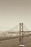 Bridge 25 de Abril, Lisbon Royalty Free Stock Images