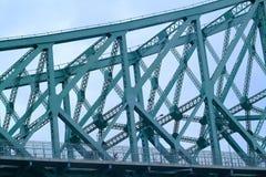 Bridge. And cyclist Stock Photos