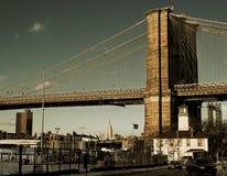 The Bridge. One of the beautiful gates of Brooklyn Bridge Royalty Free Stock Photos
