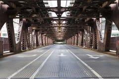 Bridge. In the city background Stock Photo