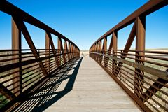 Bridge. Colorado trail bike bridge, cycling day in colorado, puente de metal, sendero Stock Image