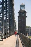 Bridge. Bolsheokhtinsky bridge in St.Petersburg, Russia royalty free stock photos