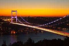Bridge. Fatih Sultan Mehmet Bridge at istanbul Royalty Free Stock Images