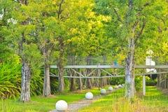 Bridge. The bridge iron and trees royalty free stock image