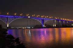 Bridge. At night,Varna,Bulgaria Stock Image