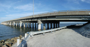 Bridge. This is a bridge that goes over the ocean in tampa florida Stock Photography