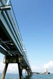 Bridge. Wooden bridge jetty Stock Photography