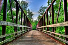 Bridge. A bridge over a river in the forest Royalty Free Stock Photography