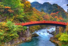 Bridge. Shinkyo Bridge in Nikko, Japan Stock Photos