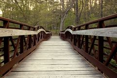 Bridge 3. A foot bridge that rises in the middle Royalty Free Stock Photo