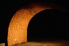 Bridge. Brick Bridge Focussed Light in the Dark Royalty Free Stock Photo